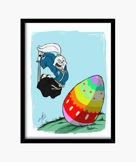 Cuadro Usagi VS Easter