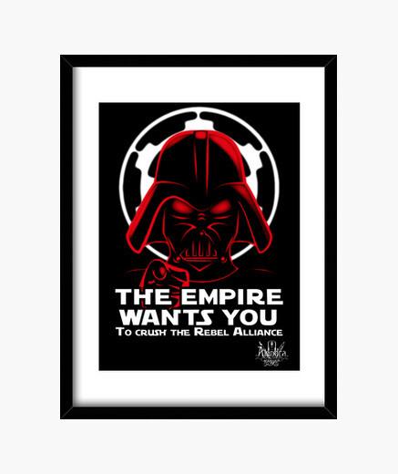 Cuadro Vader want you