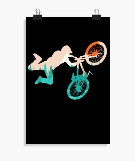 Poster vélo de montagne vélo vélo...