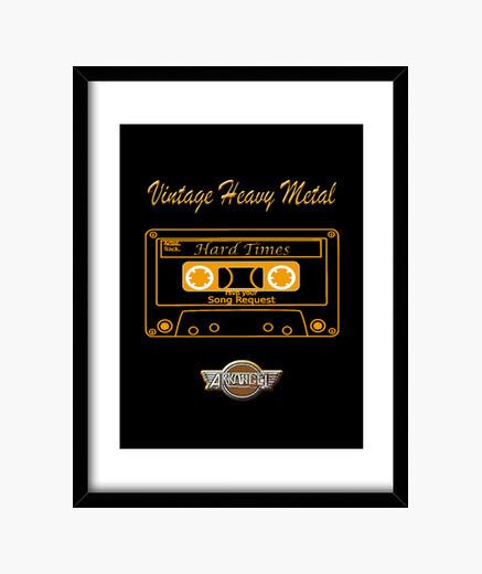 Cuadro Vintage Heavy metal/cassette arkangel