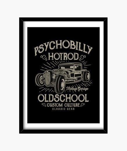 Quadro vintage hotrod psychobilly anni '50