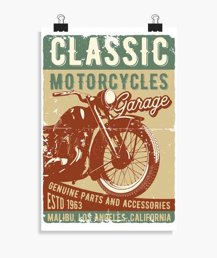 Poster vintage motociclisti moto 1963