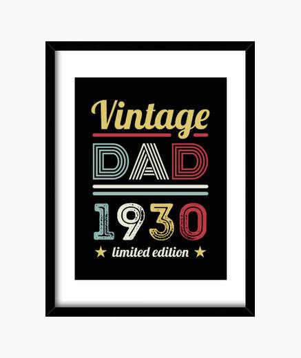 Quadro vintage papà 1930 90 ° regalo di...