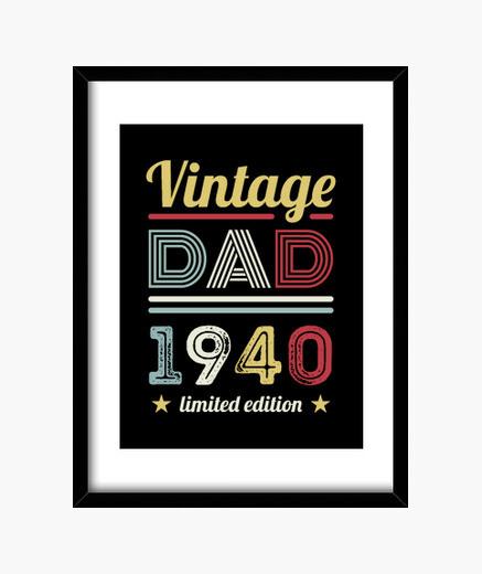 Quadro vintage papà 1940 80 ° regalo di...