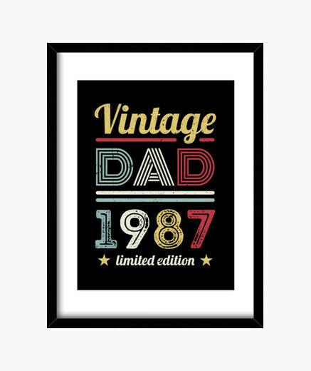 Quadro vintage papà 1987 regalo per il 40...