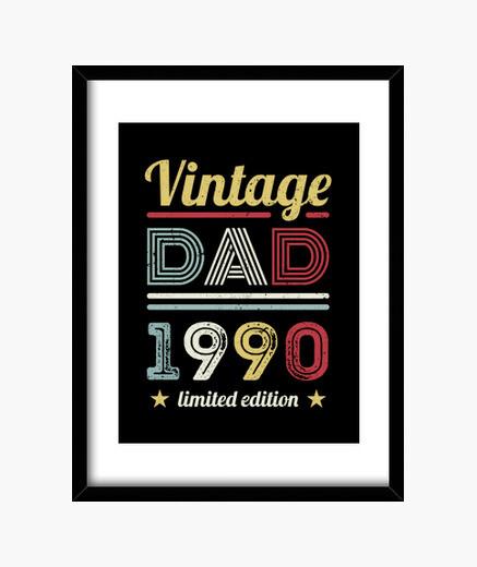 Quadro vintage papà 1990 regalo per il 30...
