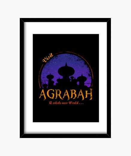 Visit agrabah framed print
