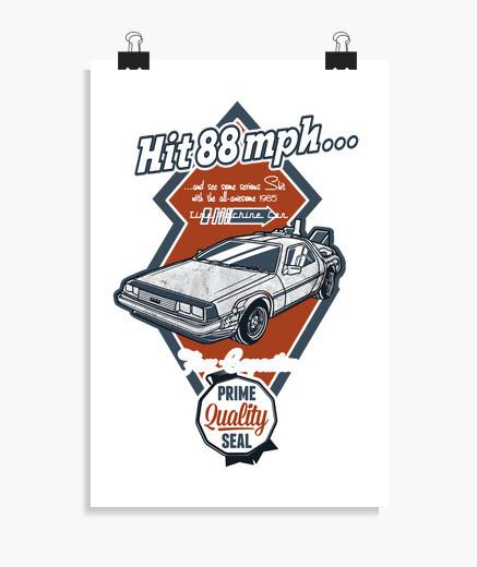 Poster voiture de la machine du temps