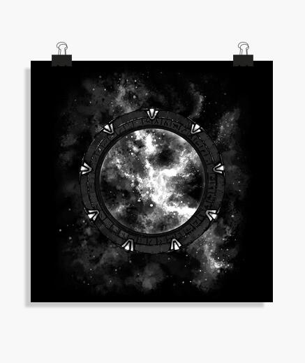 Poster voyager aux étoiles