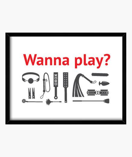 Cuadro Wanna play?