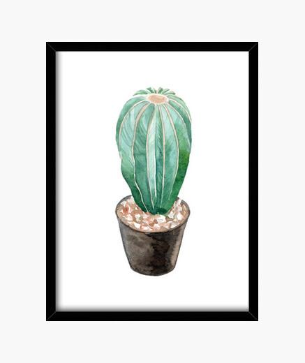 Cuadro Watercolor cactus 4
