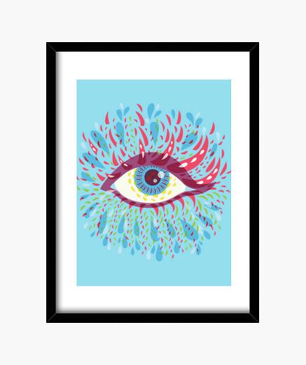 Cuadro Weird Blue Psychedelic Eye