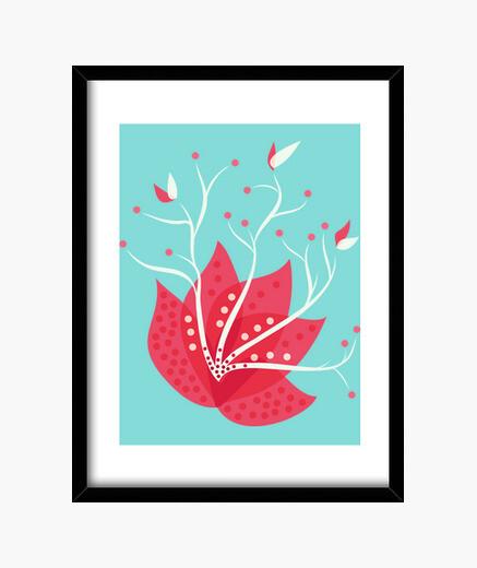 Winter exotic flower framed print