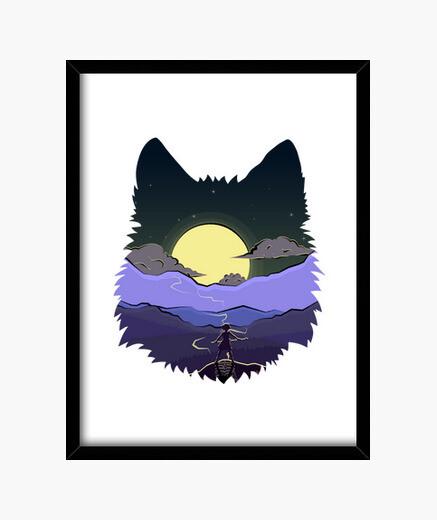 Cuadro Wolf Spirit Princess Mononoke