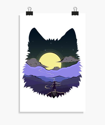 Wolf spirit princess mononoke poster