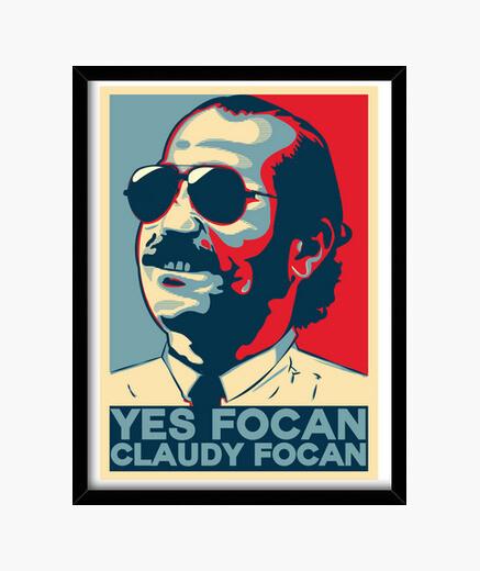 Yes focan claudy focan framed print