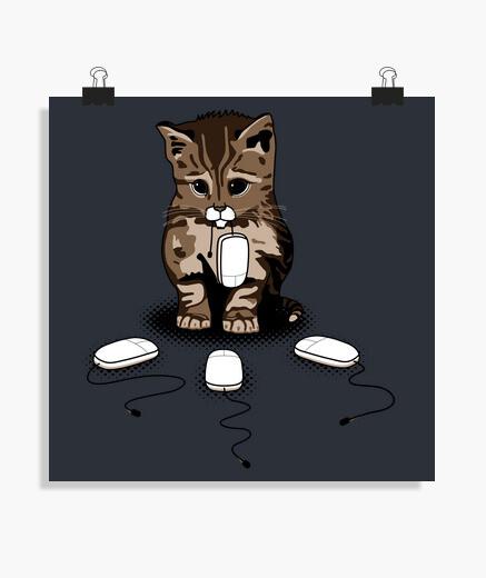 Poster yeux de chat