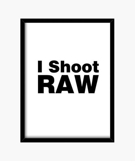 Cuadro yo disparo en bruto (fondo blanco)