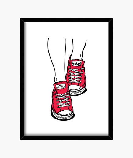 Cuadro Zapatillas Rojo