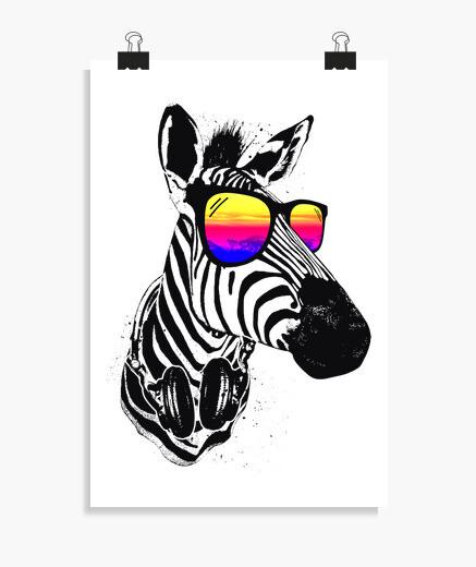 Poster zebra fresca
