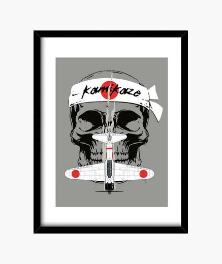 Zero kamikaze framed print