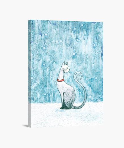 Lienzo 1. Winter Cat