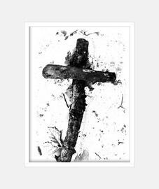 """""""La cruz"""", B&N, McHarrell original."""