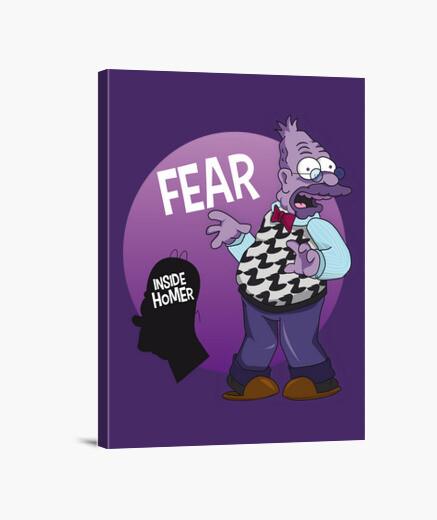 Impression sur toile  l'intérieur - la peur