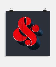 // quadrato poster / rosso bello e rosso / sfondo nero