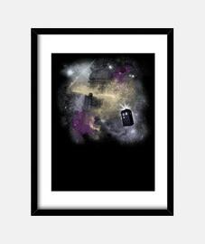 à travers le temps and l' espace