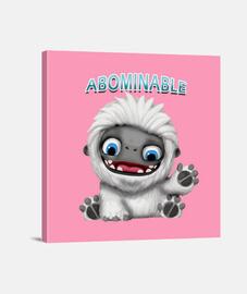 Abominable Lienzo Cuadrado