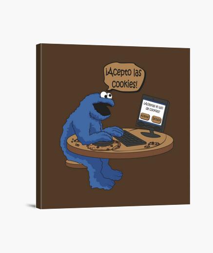 Lienzo ¡Acepto las cookies!_Lienzo