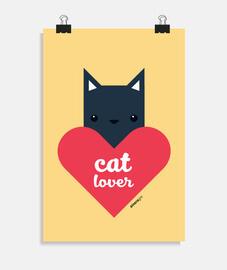 affiche d'amoureux des chats (différentes tailles)