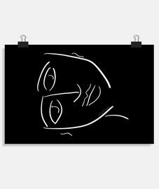 affiche de bonheur buda horizontal 3: 2