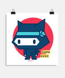 affiche de chat ninja (différentes tailles et formats)