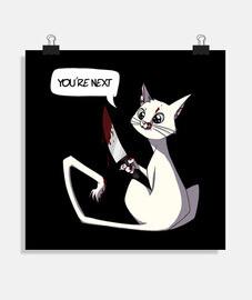 affiche de chat tueur blanc