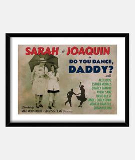 affiche de danse ancienne, papa