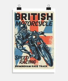 affiche de motards