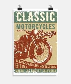 affiche de motards de motards de motards vintage 1963
