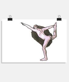 affiche de yoga
