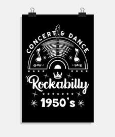 affiche des années 1950 musique rockabilly rétro rock and roll USA rockers