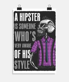 affiche hipster verticale 2: 3 - (20 x 30 cm)
