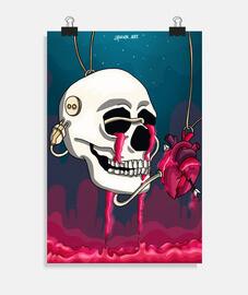 affiche verticale reliée à la douleur 2: 3 - (20 x 30 cm)