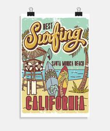 affiches surfeurs surfant surfant surfant