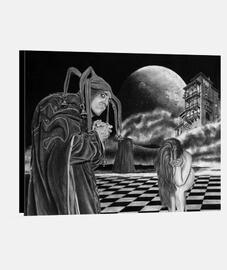 Agorafobia - Copia impresa en lienzo de la obra