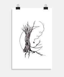 albero lunare - poster