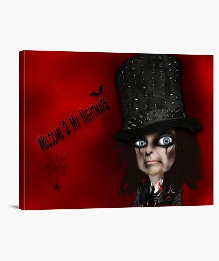 Lienzo Alice Cooper Welcome 2 my nightmare