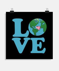 amar el arte del día de la tierra