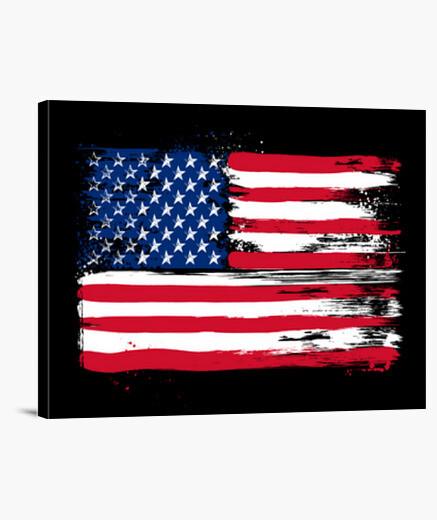 Lienzo American flag