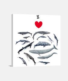 Amo las ballenas cuadro